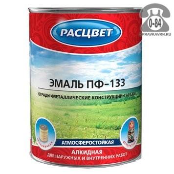 Краска Расцвет ПФ-133 0.8 кг глянцевая серебристая