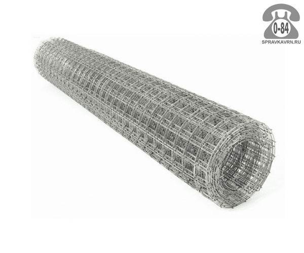 Строительная сетка диаметр 1.6мм  ячейка 50x50мм ширина 1м