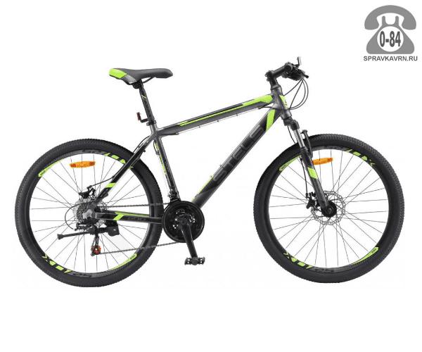 """Велосипед Стелс (Stels) Navigator 600 MD 26 (2017), рама 16.5"""" размер рамы 16.5"""" серый"""