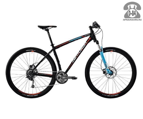 """Велосипед Центурион (Centurion) Backfire Pro 100.29 (2017) размер рамы 17.5"""" черный"""