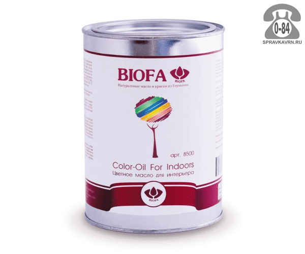Мастика Биофа (Biofa) Color-Oil For Indoors 1л сталь