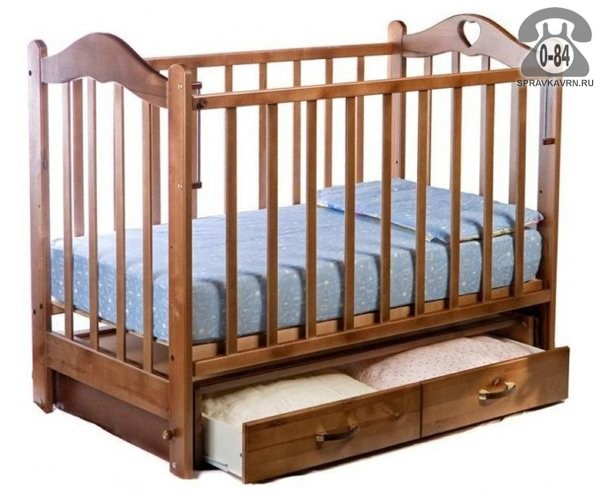 Кроватка Ведрусс Лана 3 (маятник, сердечко), маятник