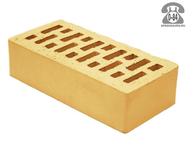 Кирпич облицовочный керамический Тербунский гончар М200 полуторный (утолщённый) 1НФ золотистый гладкая с. Тербуны