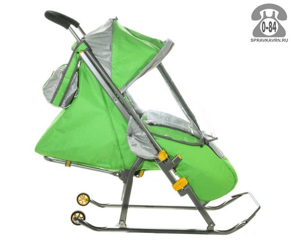 Санки Ника Детям 4 зеленые для одного ребенка