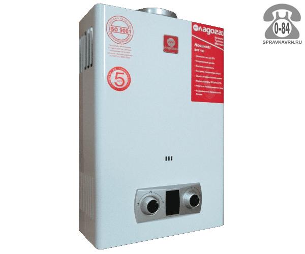 Газовая колонка Ладогаз ВПГ 10Е 15.8 кВт 10л/мин открытая камера