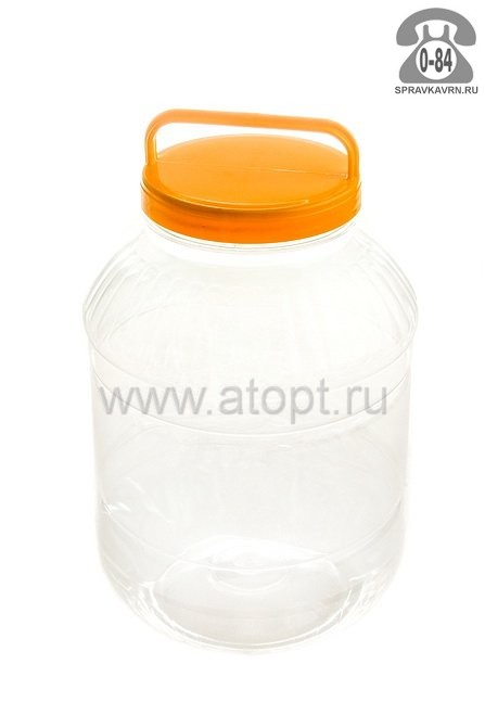 емкость ПЭТ прозрачная 5 л Бидон (М464) (Башкирия)