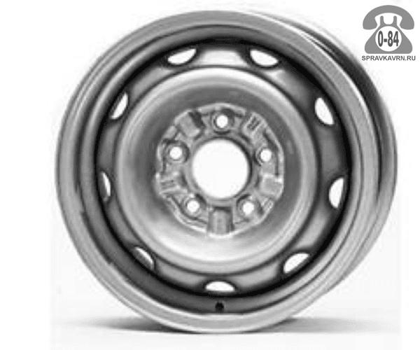"""Диск КФЗ (KFZ) 9600 16"""" ширина 6"""" крепежных отверстий 5 диаметр расположения отверстий 130 мм вылет колеса (ET) 68 мм диаметр центрального отверстия 78.1 мм"""