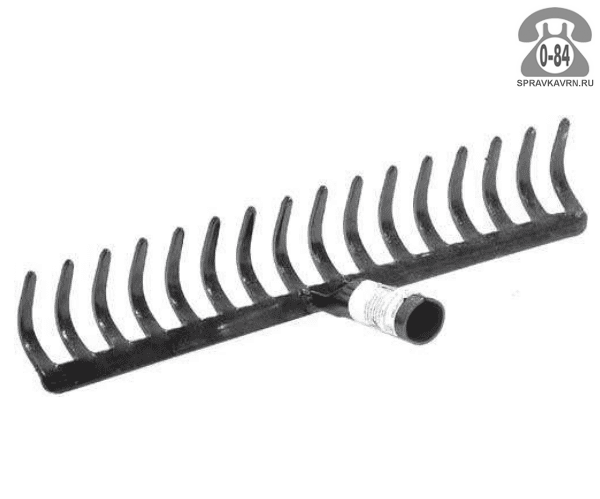 Грабли прямые стальные без черенка 16 эмаль (окрашенные) Россия