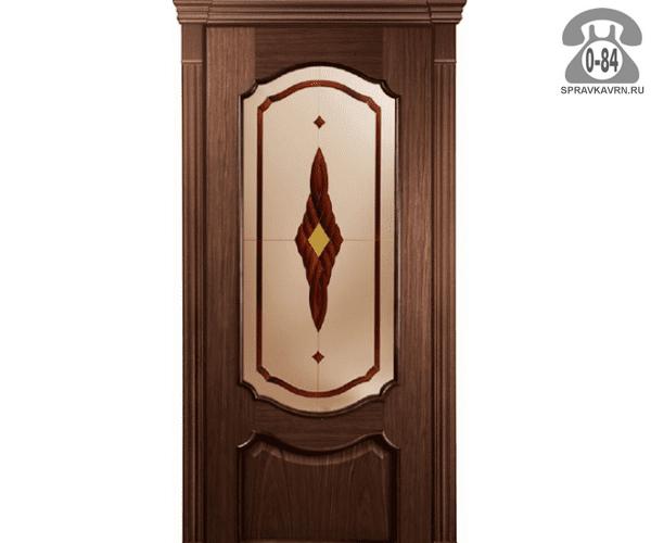 Межкомнатная деревянная дверь Левша, фабрика Верона остеклённая 80 см кофейная