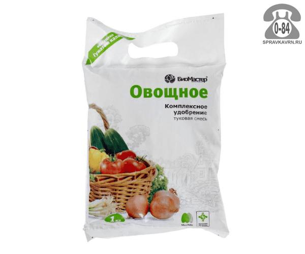 Удобрение органо-минеральное БиоМастер для овощей 1 кг Россия