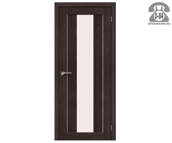 Межкомнатная деревянная дверь ЭльПорта, фабрика (el PORTA) Порта-25 alu Magic Fog остеклённая 70 см Венге Вералинга (Wenge Veralinga)