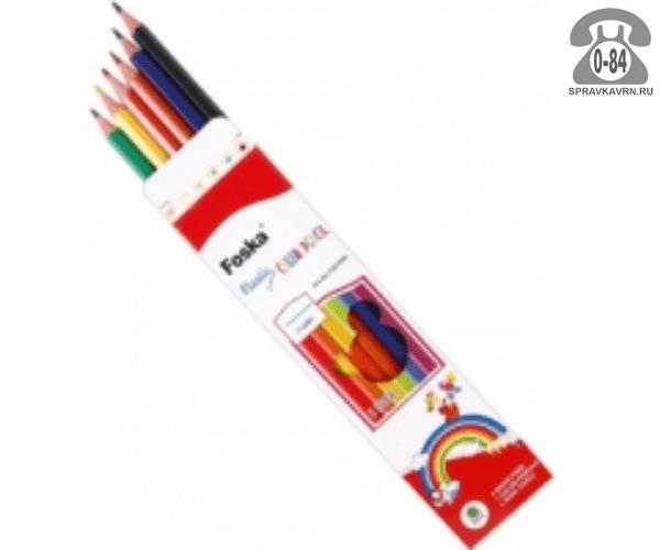 Цветные карандаши CQ1106 цветов 6 картонная коробка