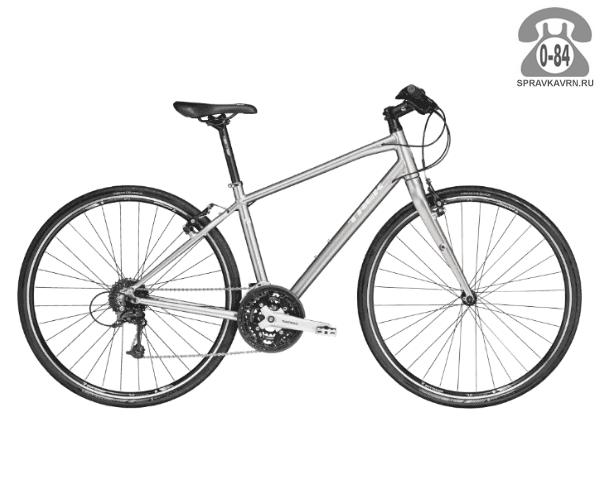 """Велосипед Трек (Trek) 7.4 FX WSD (2016), рама 17.5"""" размер рамы 17.5"""" серый"""