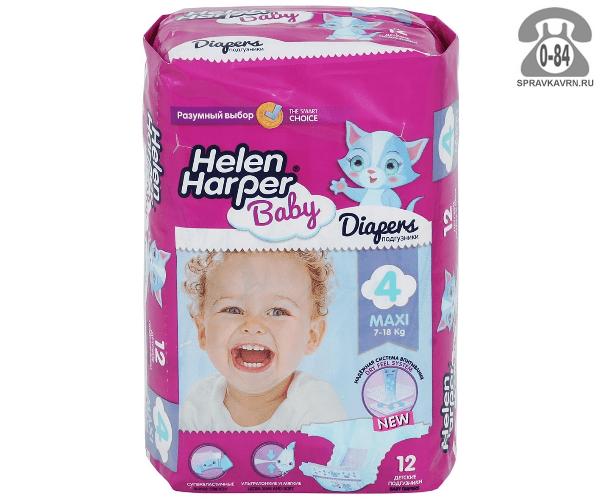 Подгузники для детей Хелен Харпер (Helen Harper) Baby Maxi (12) 7-18, 12шт.