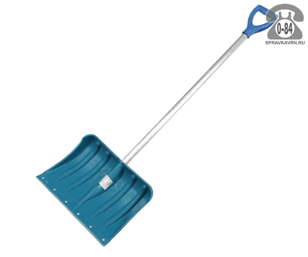 Лопата Премиум снеговая с алюминиевым черенком