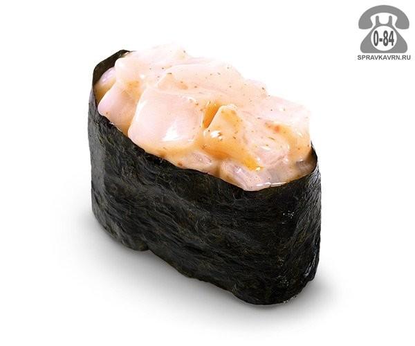 Суши Спайси хотатэ гункан спайс с морским гребешком 30 г на дом