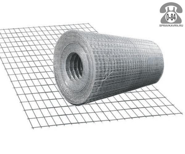 Строительная сетка диаметр 1.8мм  ячейка 25x25мм ширина 1м