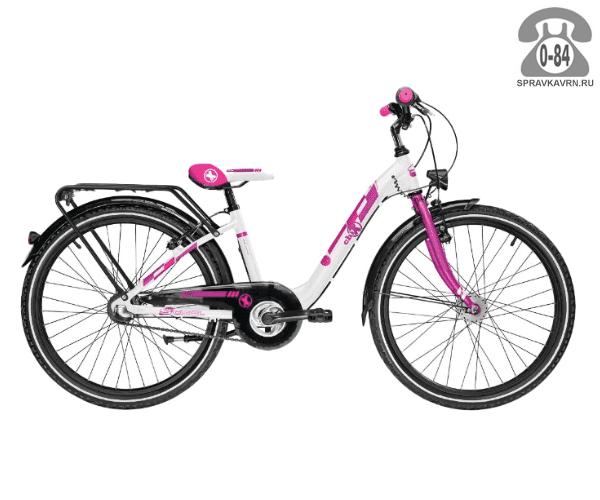 Велосипед Скул (Scool) chiX comp 24 3-S (2017), белый