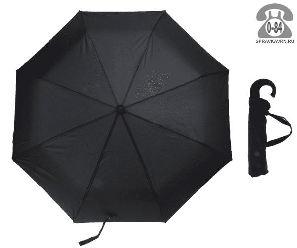 Зонт складной автоматический чёрный мужской Китай