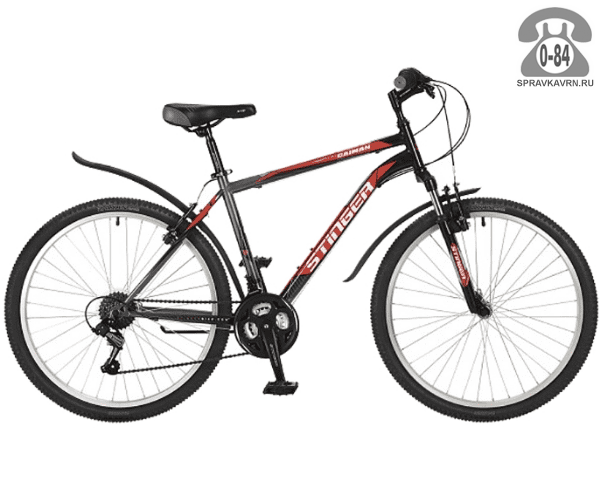 """Велосипед Стингер (Stinger) Caiman 26 (2017), рама 18.5"""", черный размер рамы 18.5"""" черный"""