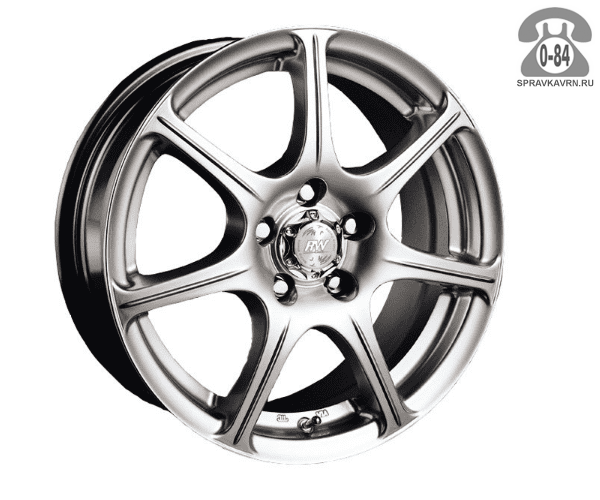 """Диск РВ (Racing Wheels) H-171 14"""" ширина 6"""" крепежных отверстий 4 диаметр расположения отверстий 98 мм вылет колеса (ET) 38 мм диаметр центрального отверстия 58.6 мм"""