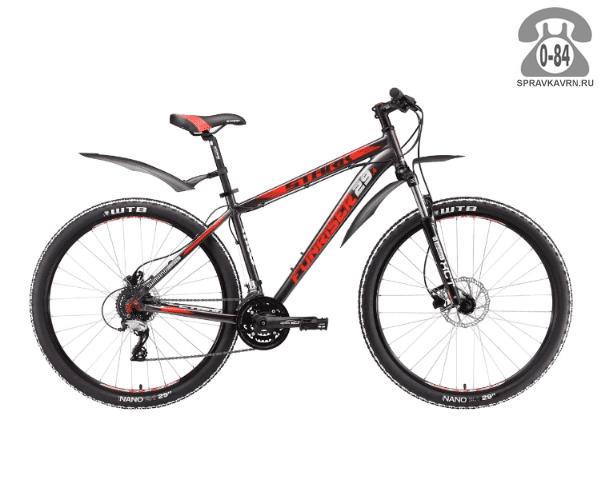 """Велосипед Старк (Stark) Funriser 29.4 HD (2017), рама 20.5"""" размер рамы 20.5"""" серый"""