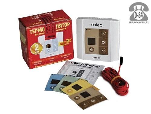 Терморегулятор для тёплого пола Калео (Caleo) 320 непрограммируемый кнопочный белый выносной отсутствует 2 м 0-+40 Корея, республика (Южная Корея)