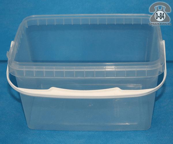 Контейнер пищевой Стиролпласт пластмассовый (пластиковый, полипропиленовый) 2 л прямоугольная для СВЧ-печи с крышкой г. Москва