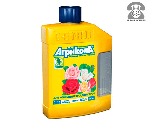 Удобрение минеральное Агрикола Аква для комнатных и садовых роз 0.25 л комплексное