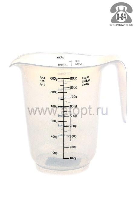 кувшин мерный пластмассовый 1 л (ПЦ3053) прозрачный (Пластик-Центр)