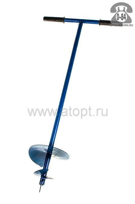 Бур почвенный 100 см шнековый 200 мм синий Россия