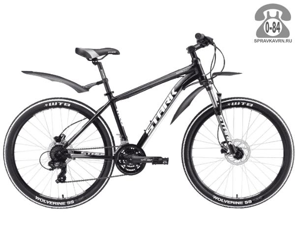 """Велосипед Старк (Stark) Router 26.2 HD (2017), рама 18.5"""" размер рамы 18.5"""" черный"""