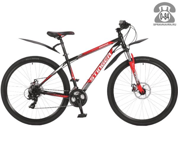 """Велосипед Стингер (Stinger) Aragon 29"""" (2017), рама 18.5"""" размер рамы 18.5"""" черный"""