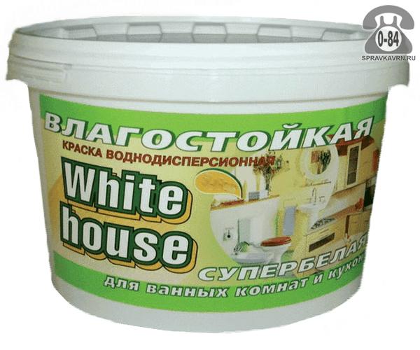 Краска Вайт хаус (White house) Влагостокая 3.5кг матовая, супербелая