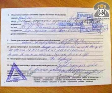 Осмотр медицинский поступающих на работу или в учебное заведение справка 086/у