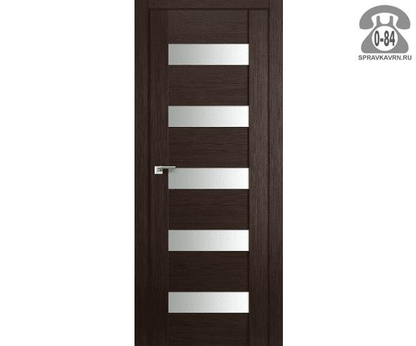 Межкомнатная деревянная дверь ЭльПорта, фабрика (el PORTA) Порта-23 Magic Fog остеклённая 70см, цвет: Венге Вералинга (Wenge Veralinga)