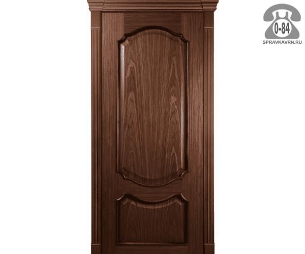 Межкомнатная деревянная дверь Левша, фабрика Верона глухая (без стекла) 80 см кофе