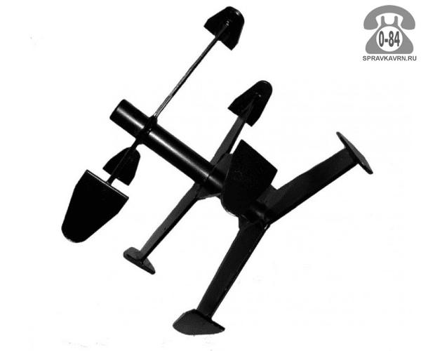 Фреза для мотоблока Целина Гусиные лапки 390 мм диаметр фрезы 335 мм ступицы 25 мм для мотоблока Ока