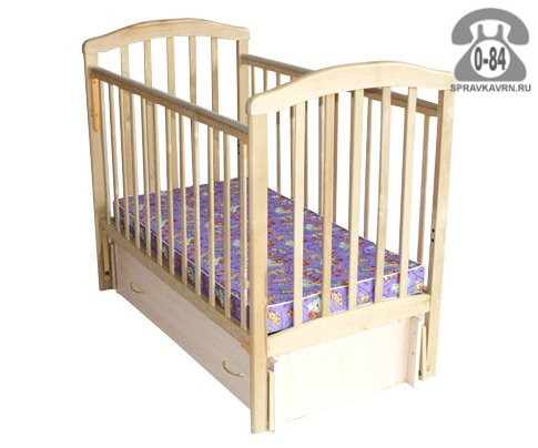 Кроватка Лескоммебель Лиза 1, маятник