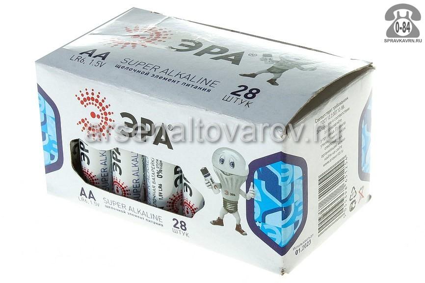 Батарейка Эра LR06 1.5 В бокс 28 шт. Китай