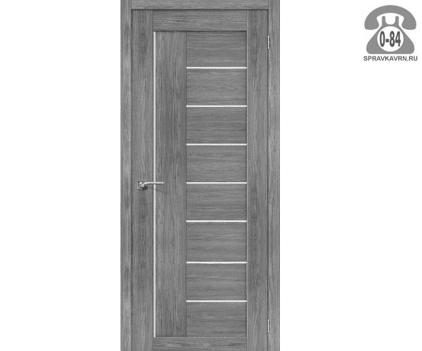 Межкомнатная деревянная дверь ЭльПорта, фабрика (el PORTA) Порта-29 Magic Fog остеклённая 70см, цвет: Грей Вералинга (Grey Veralingа)