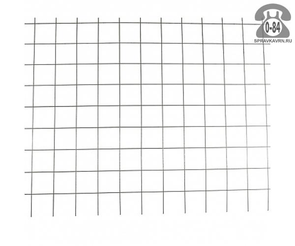 Сетка строительная сварная сталь неоцинкованная 3.6 мм 150 мм 150 мм 2 м 3 м