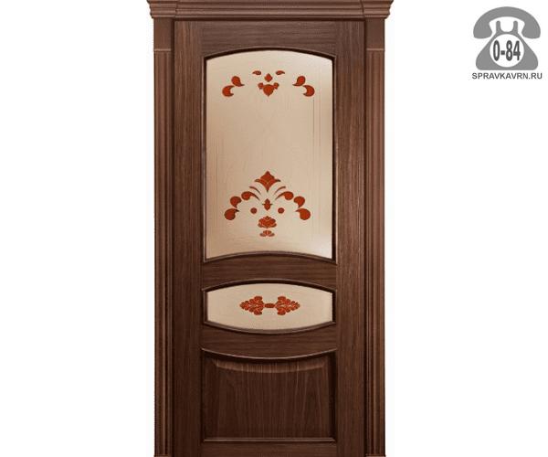 Межкомнатная деревянная дверь Левша, фабрика Алина ПО 80 остеклённая 80 см шоколад