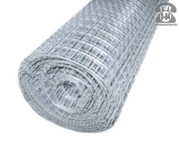 Строительная сетка диаметр 3мм  ячейка 100x100мм ширина 0.5м