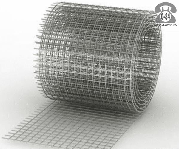 Строительная сетка диаметр 3мм  ячейка 50x50мм ширина 0.5м
