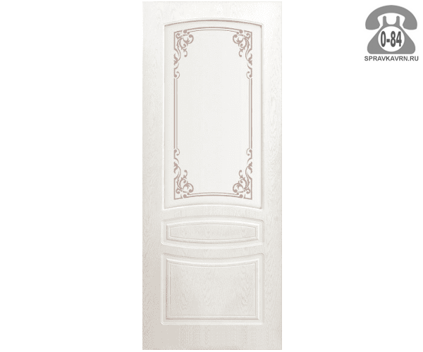Межкомнатная деревянная дверь Левша, фабрика Венеция глухая (без стекла) 70 см снежный дуб