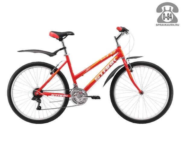 """Велосипед Старк (Stark) Luna 26.1 RV (2017), рама 15"""" размер рамы 15"""" красный"""