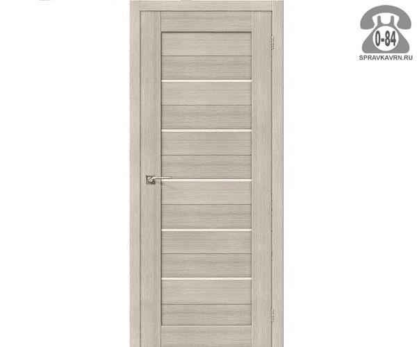 Межкомнатная деревянная дверь ЭльПорта, фабрика (el PORTA) Порта-22 Magic Fog остеклённая 80 см капучино (cappuccino)