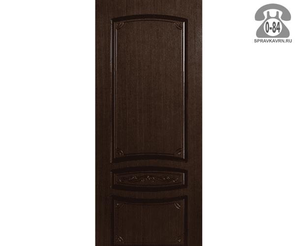 Межкомнатная деревянная дверь Левша, фабрика Венеция глухая (без стекла) 70 см шоколад