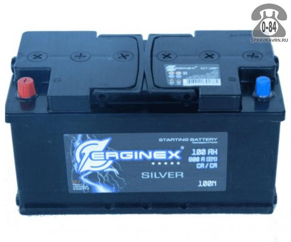 Аккумулятор для транспортного средства Эрджинекс (Erginex) 6СТ-100 полярность прямая, 352*175*190мм